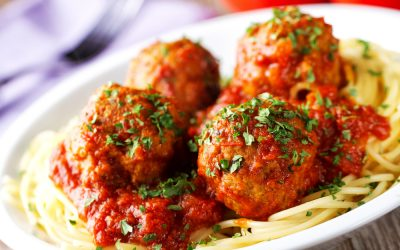RECIPE: Herbed Meatballs & Spaghetti