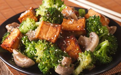 RECIPE: Tofu, Broccoli, and Mushroom Stir Fry