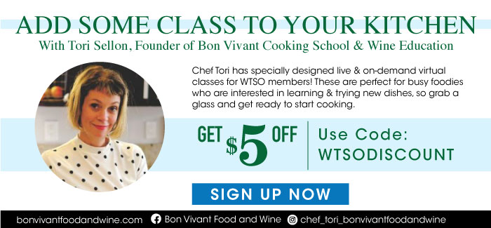 Add Some Class to Your Kitchen with Chef Tori Sellon of Bon Vivant Cooking School & Wine Education