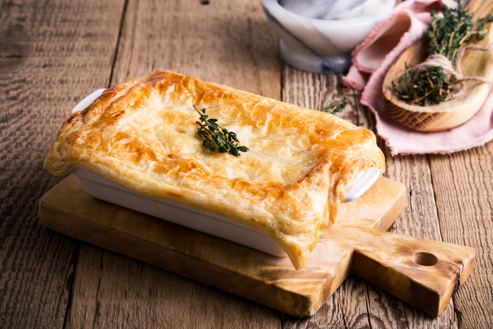 RECIPE: Salmon Pot Pie With Creamy Terragon Sauce