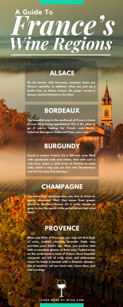 A Guide To France's Wine Regions Infographic