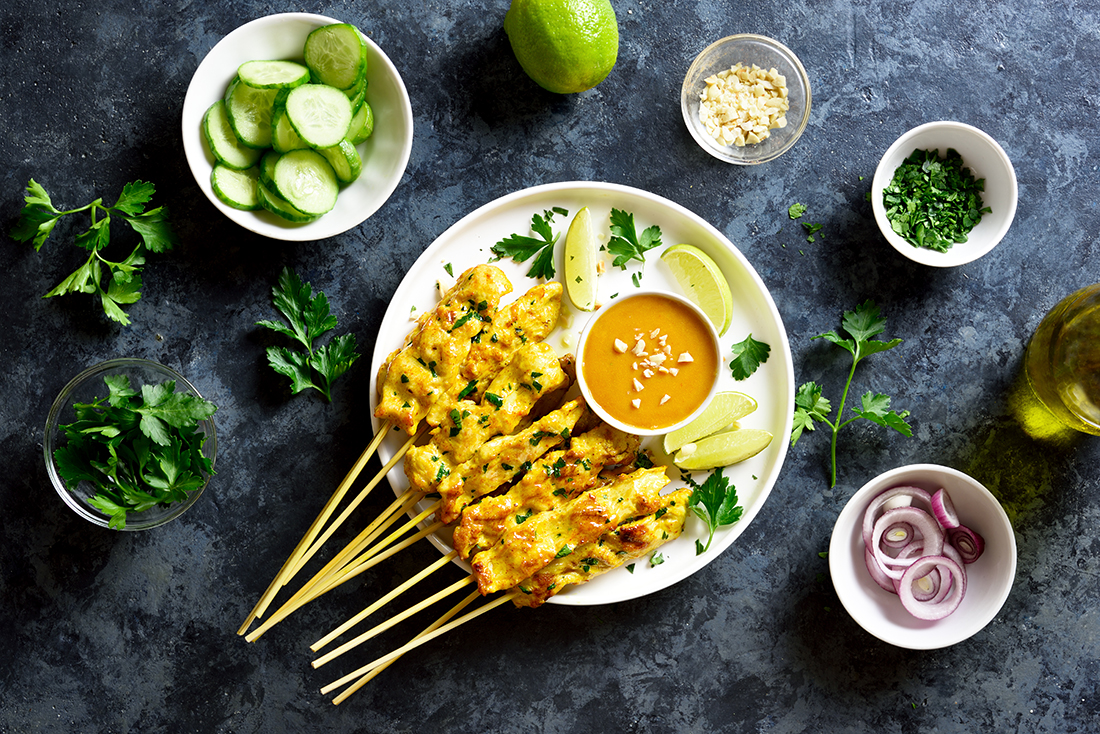 RECIPE: Chicken Satay with Peanut Sauce
